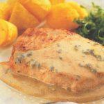 Mignonnettes de porc, sauce au roquefort