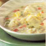 Soupe de lotte aux petits légumes