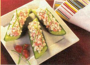 Concombre au saumon fumé