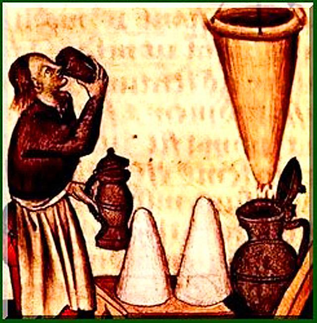 La fabrication de l'hypocras au Moyen-Âge