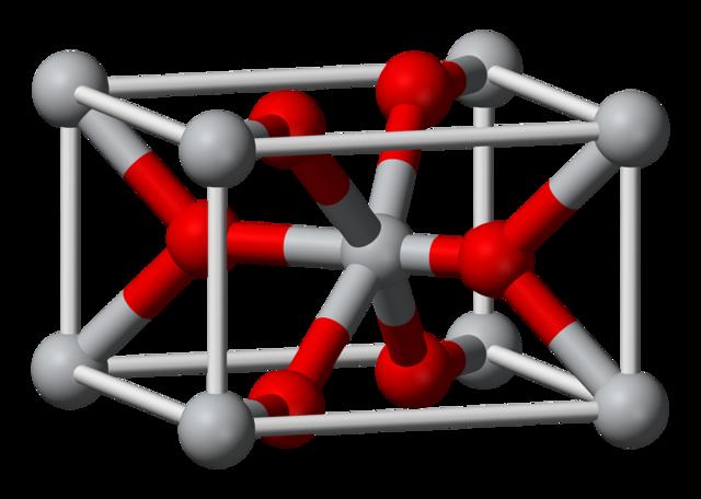 Rutile, une des formes de dioxyde de titane